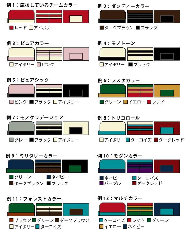 ラウンドファスナー 配色例